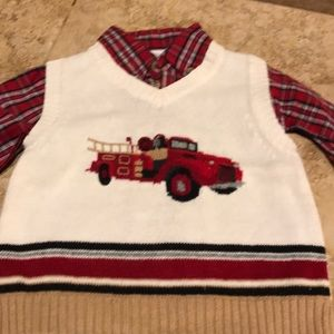 Holiday Shirt & Sweater Set Size 24 Months